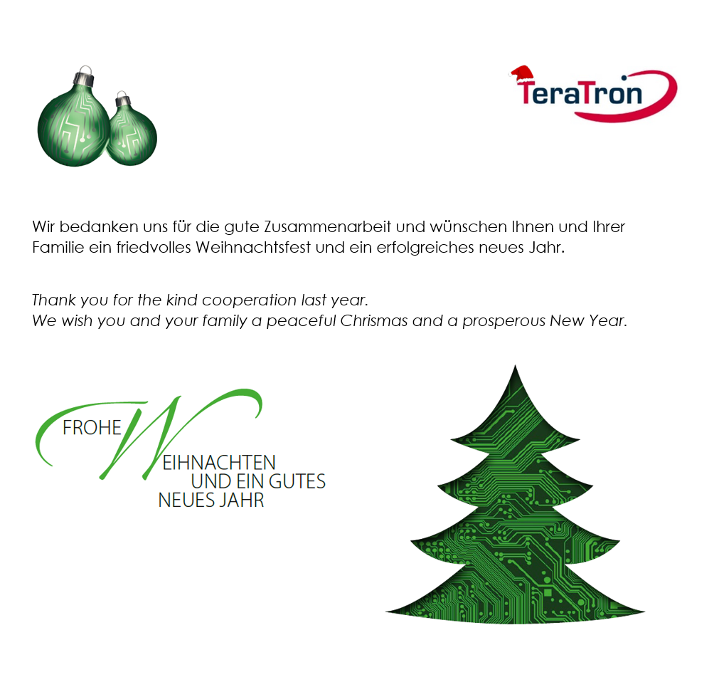 Weihnachtsgruß TeraTron